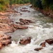 Stock Photo: Wild River at beautiful mountain valley