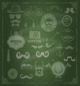 Hipster style design elements and icons set — Stock Vector