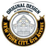 Placa de casa vieja. diseño de estilo antiguo y detalles florales. organizado — Vector de stock