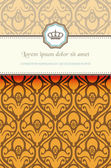 Baroque card — Vector de stock
