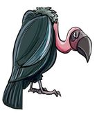 Cartoon evil looking vulture — Stock Vector