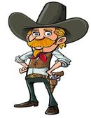 Carton cowboy with goatee — Stock Vector