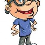 Stereotypen Cartoon-nerd — Stockvektor  #17438697