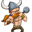 Stock Vector: Cartoon viking