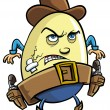 Cowboy egg - Stock Vector