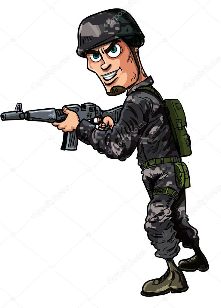 Soldat moderne dessin anim avec un fusil image vectorielle antonbrand 31823035 - Dessin de soldat ...