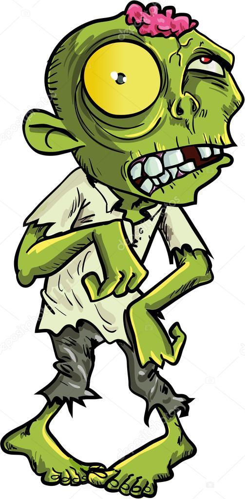 Zombie de dessin anim avec un gros oeil jaune image - Zombie dessin ...