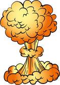 Cartoon nuclear explosion — Stock Vector