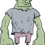 Cartoon Frankenstein monster — Stock Vector