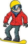 Cartoon smiling olympic snowboarder — Vetorial Stock