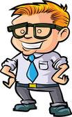 Cute nerd office worker — Stock Vector