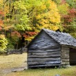 Stock Photo: Log Cabin Smoky Mountains