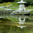 Japanese pagoda zen garden — Stock Photo