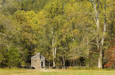 Rustic Log Cabin, Cades Cove, Great Smoky Mountains National Par — Stock Photo
