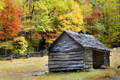 Log Cabin Smoky Mountains — Stock Photo