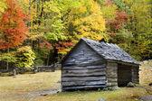 Log Cabin Smoky Mountains — Stock Photo