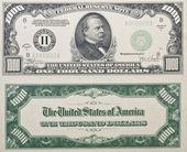 One Thousand Dollar Bill — Stock Photo