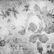 Vintage black and white texture with roses — Stock Photo