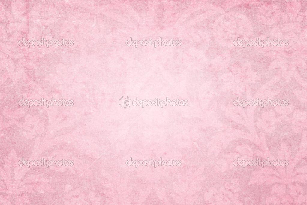 淡粉色 grunge 纹理与花卉图案 — 图库照片©Vesnushka#16194403