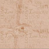 Stucco with the words love, love — Stock Photo