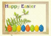 Postcard: Happy Easter — Stock Photo