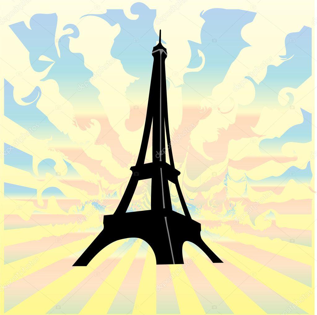 法国-埃菲尔铁塔手绘集合