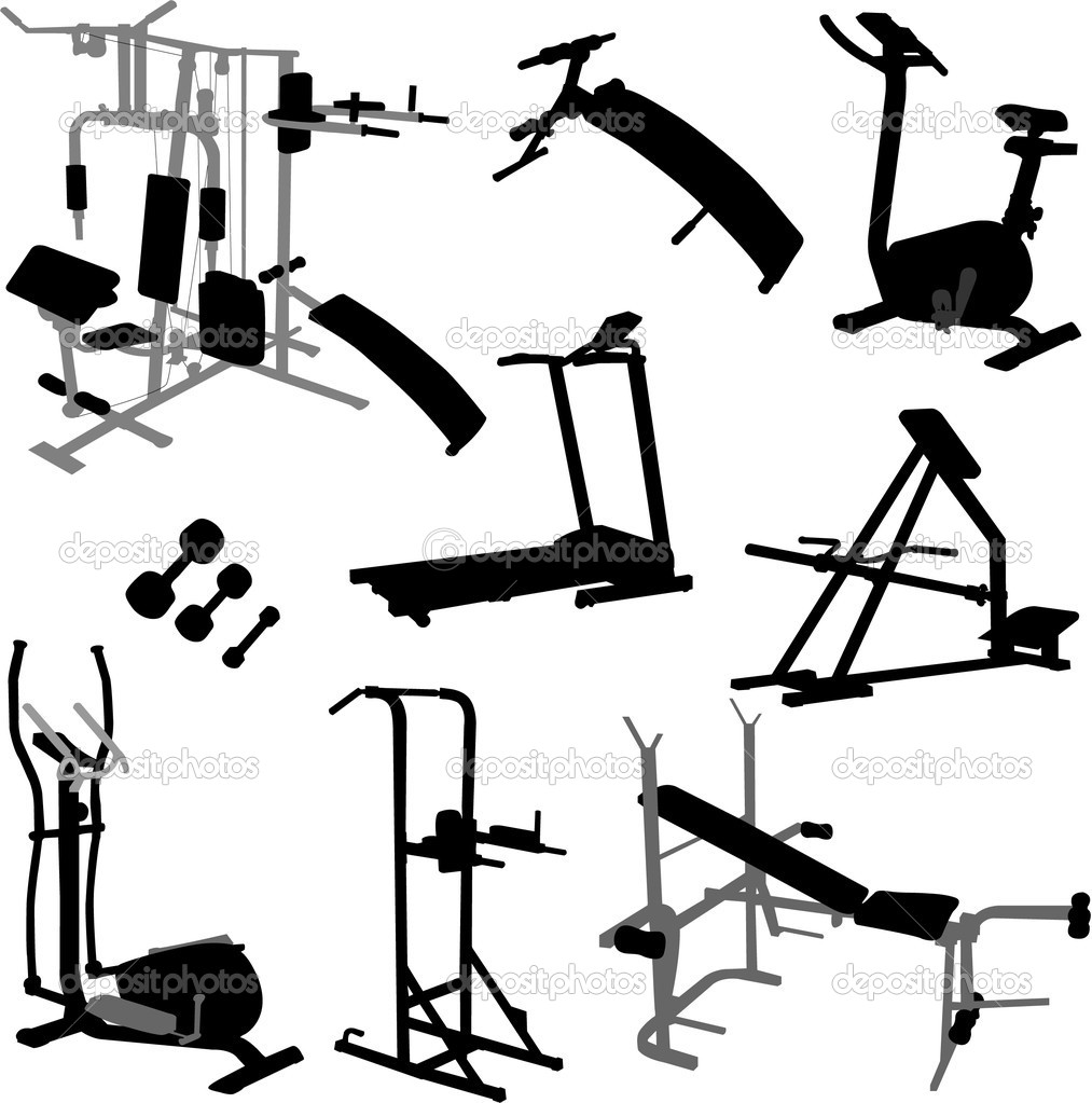 Gym equipment vector — stock olivera