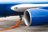 Tankning jetmotorn — Stockfoto