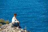 看着黑海 — 图库照片