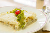Turkish Dessert Gullac — Stock Photo