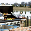 Outside Kitchen Barbeque — Stock Photo #23295804