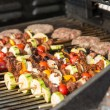 Skewers and Beef Patties — Stock Photo #23295876
