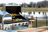 Outside Kitchen Barbeque — Stockfoto