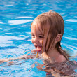 Toddler Learning How to Swim — Stock Photo
