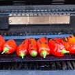 Roasting the Chillies — Stock Photo