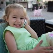 Cute Little Girl on the Phone — Stok fotoğraf