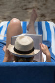 Beach Bookworm — Stock Photo