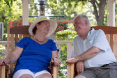 Senior Couple Looking Trustfully — Stock Photo