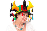 Senior Lady with Jester's Hat — Stock Photo