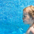 Toddler Girl in the Pool — Stock Photo