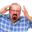 Enraged man wringing his hands — Stock Photo #30769267