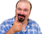 Man making a thumbs up gesture — Stock Photo