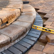Level on pavers — Stock Photo