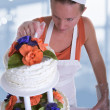 Wedding Cake Maker — Stock Photo
