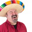 Happy Guy with Mexican Sombrero  Hat — Stock Photo