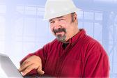 Hardhat Technician Smiling Trustfully — Stock Photo