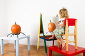Painting Pumpkin Impressionist — Stock Photo