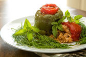 Stuffed Bellpepper and Tomatoes Dolmas — Stock Photo