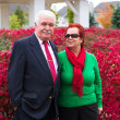 Happy and Health Senior Couple Enjoying Autumn — Stock Photo