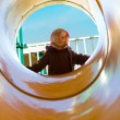 Sunny Day at the Other Side of the Tube Slide — Stock Photo